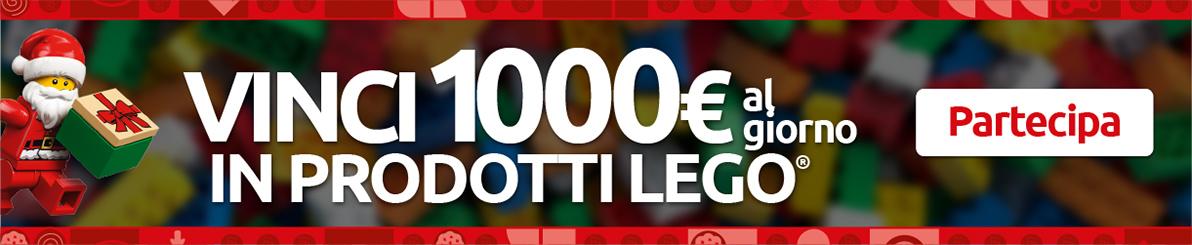 Vinci 1000€ con LEGO