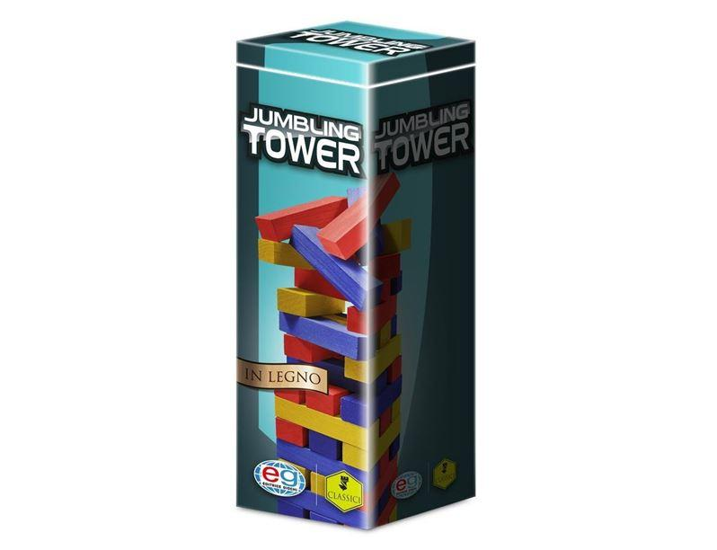 SPIN MASTER  EG CLASSICI JUMBLING TOWER COLORATA IN LEGNO 6036102