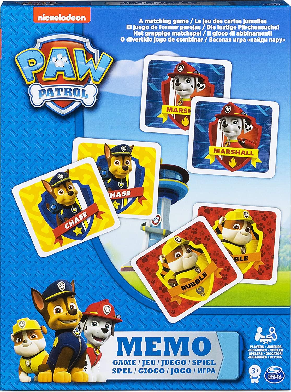 SPIN MASTER MEMO DI PAW PATROL - IL GIOCO DELLE COPPIE 6033301
