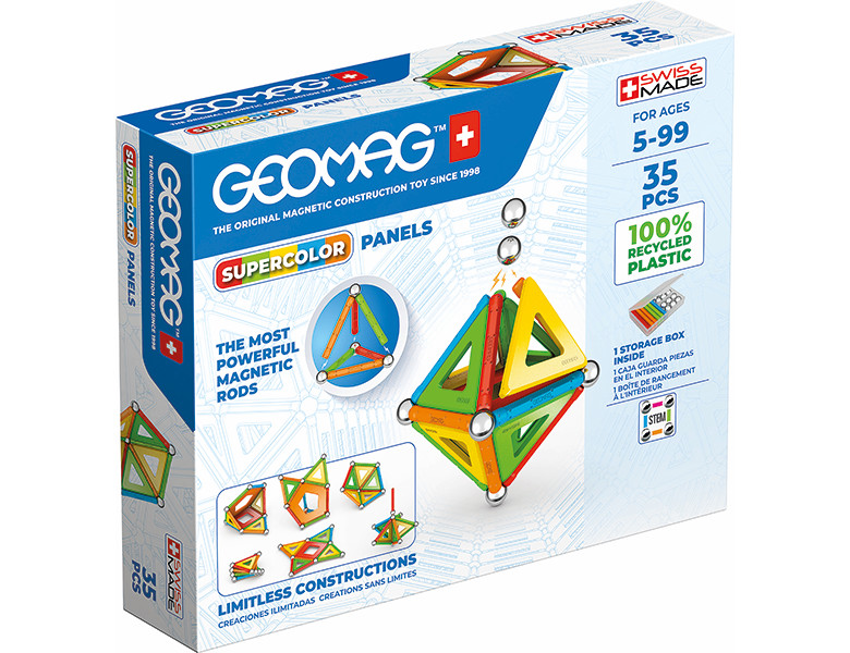 GEOMAG WORLD SUPERCOLOR PANELS RECYCLED - 35 PEZZI 377