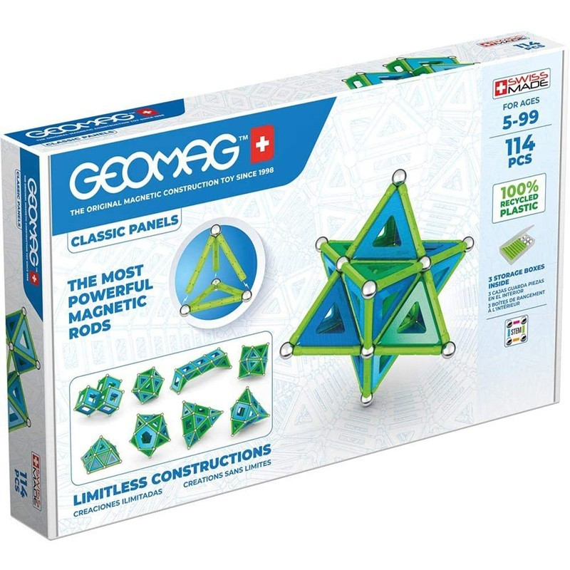 GEOMAG WORLD CLASSIC PANELS GREEN LINE - 114 PEZZI 483