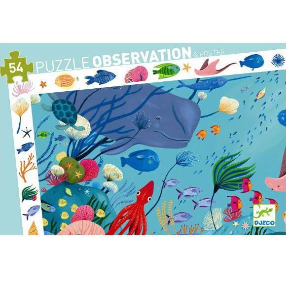 DJECO OBSERVATION PUZZLE - ACQUATIC 54 PEZZI DJ07562