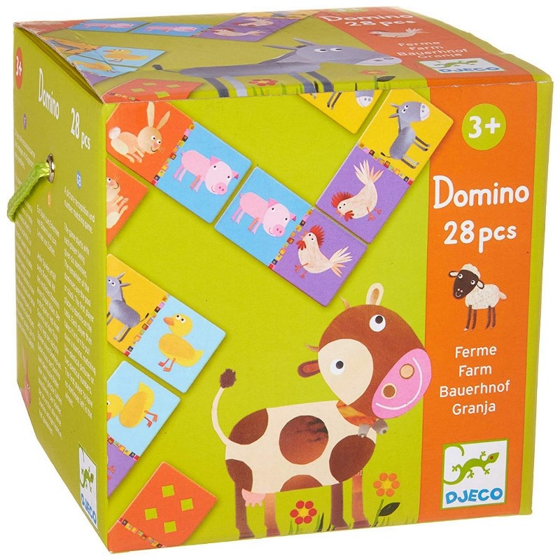 DJECO  EDUCATIONAL GAMES - DOMINO FATTORIA 28PZ DJ08158