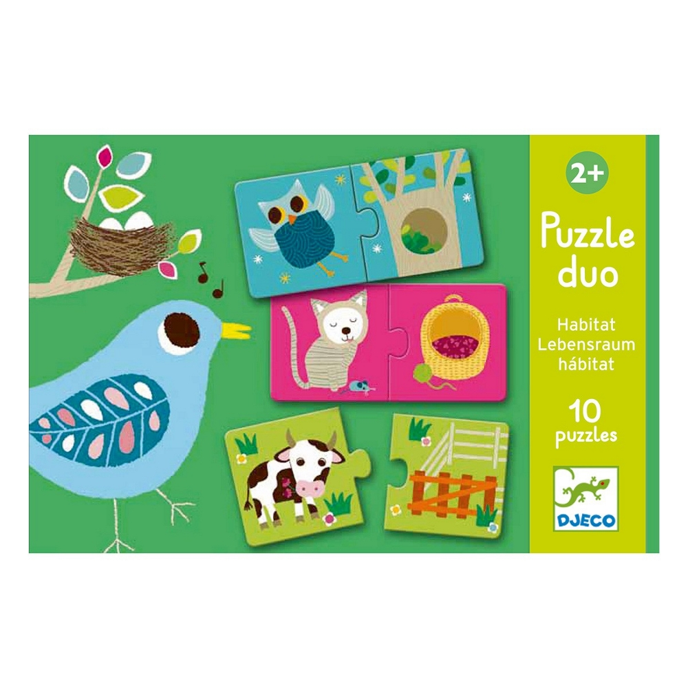 DJECO  PUZZLE DUO - ANIMALI E AMBIENTE - HABITAT DJ08164