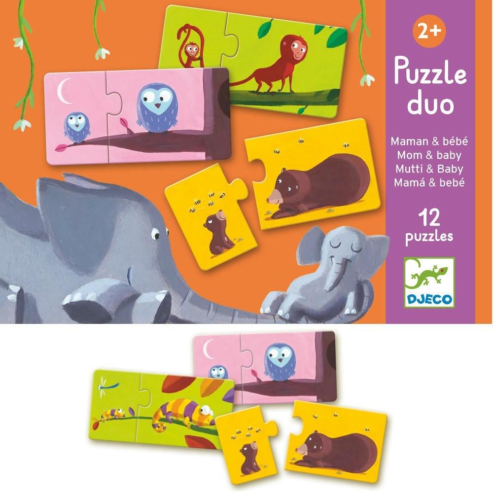 DJECO  PUZZLE DUO - ANIMALI E CIBO - DINNERS READY! DJ08166