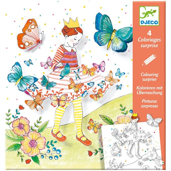 DJECO LADY BUTTERFLY - FOGLI DA COLORARE DJ09629
