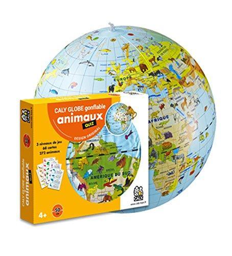 MAPPAMONDO MISSIONE ANIMALI 42 CM GONFIABILE - CALY GLOBE