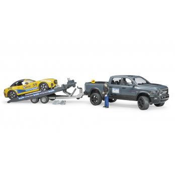 BRUDER RAM 2500 POWER WAGON CON BRUDER ROADSTER RACING TEAM 2504
