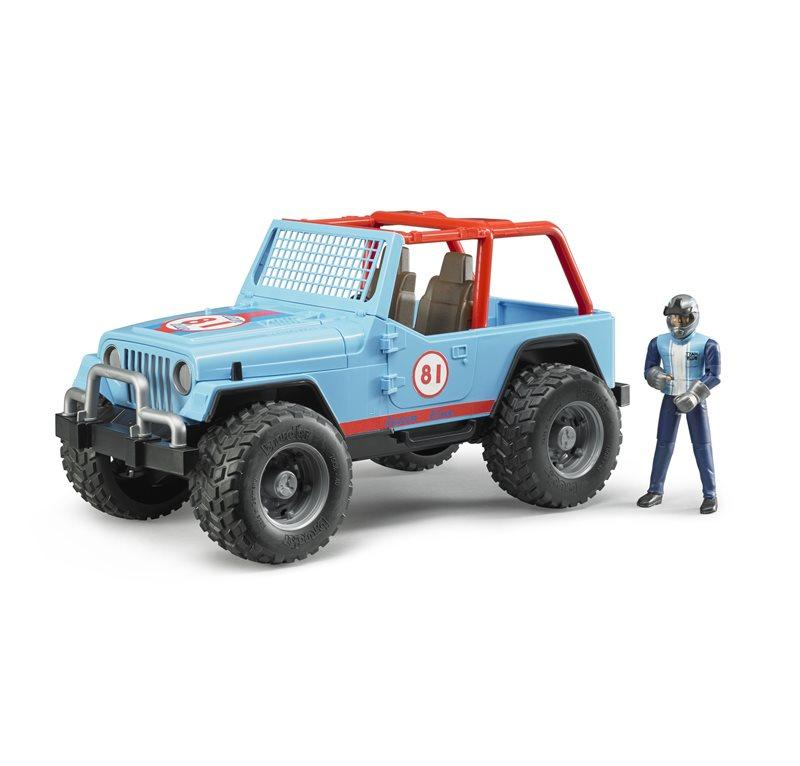 BRUDER JEEP CROSS COUNTRY RACE BLU CON PILOTA 2541