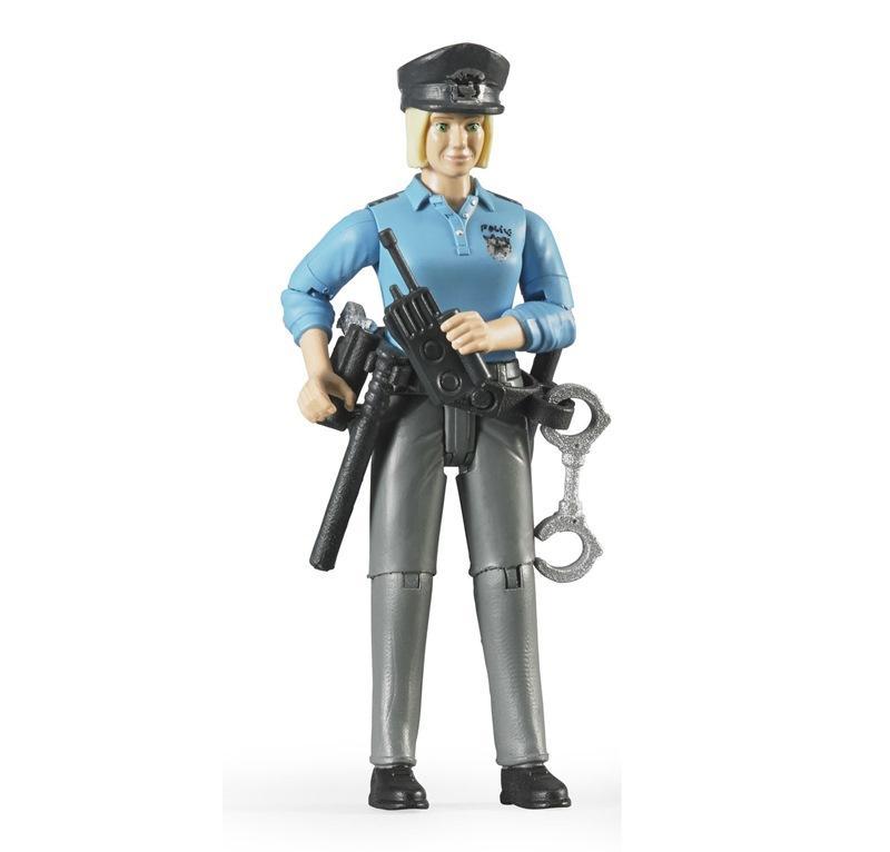 BRUDER POLIZIOTTA CON PELLE CHIARA ED ACCESSORI 60430