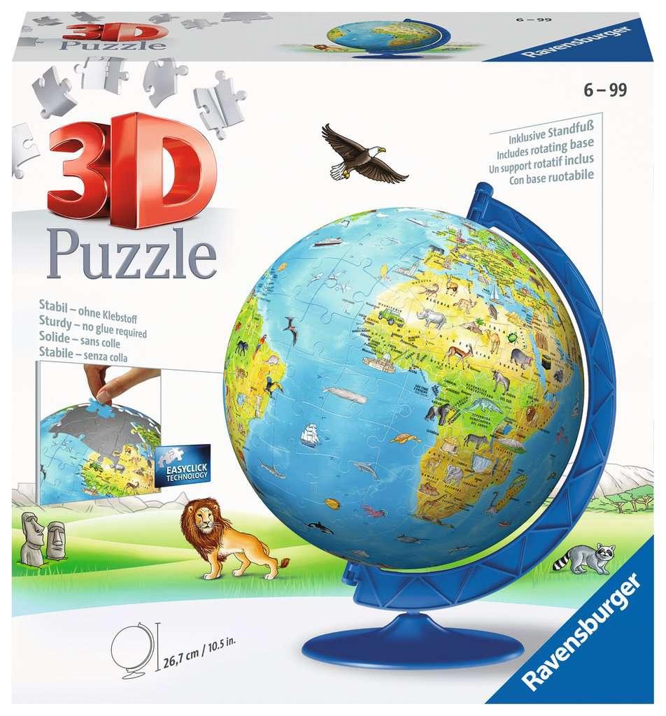 RAVENSBURGER 3D BAMBINI 3D GLOBO 180 PZ NEW EDITION 12340