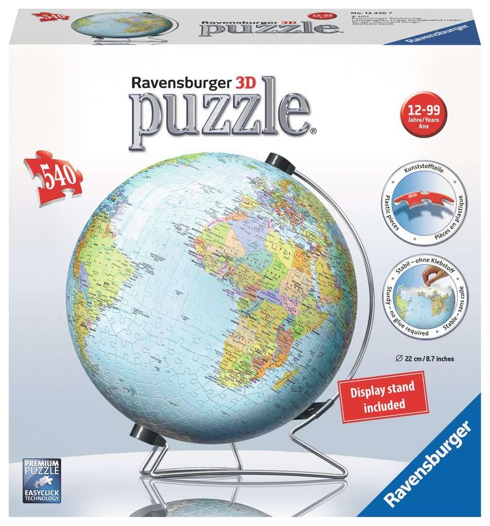 RAVENSBURGER 3D PUZZLE GLOBE 540 PZ 12436