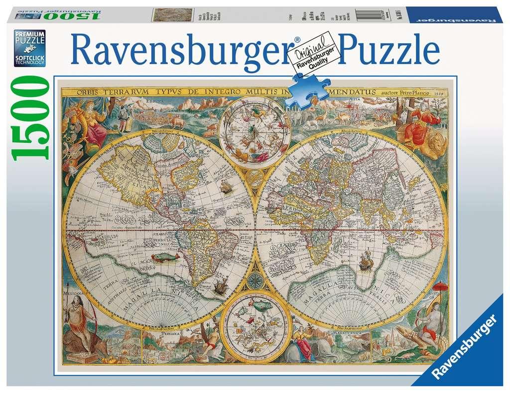 RAVENSBURGER  MAPPAMONDO STORICO 16381