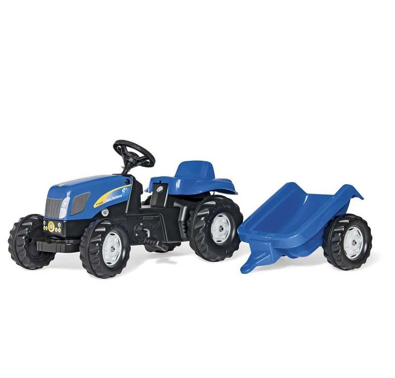 ROLLY TOYS ROLLYKID NEW HOLLAND T 7040 CON RIMORCHIO cod. 013074