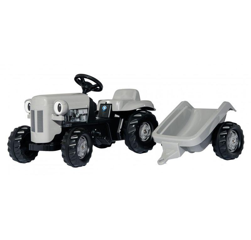 ROLLY TOYS TRATTORE CAVALCABILECON RIMORCHIO LITTLE GREY FERGIE 014941