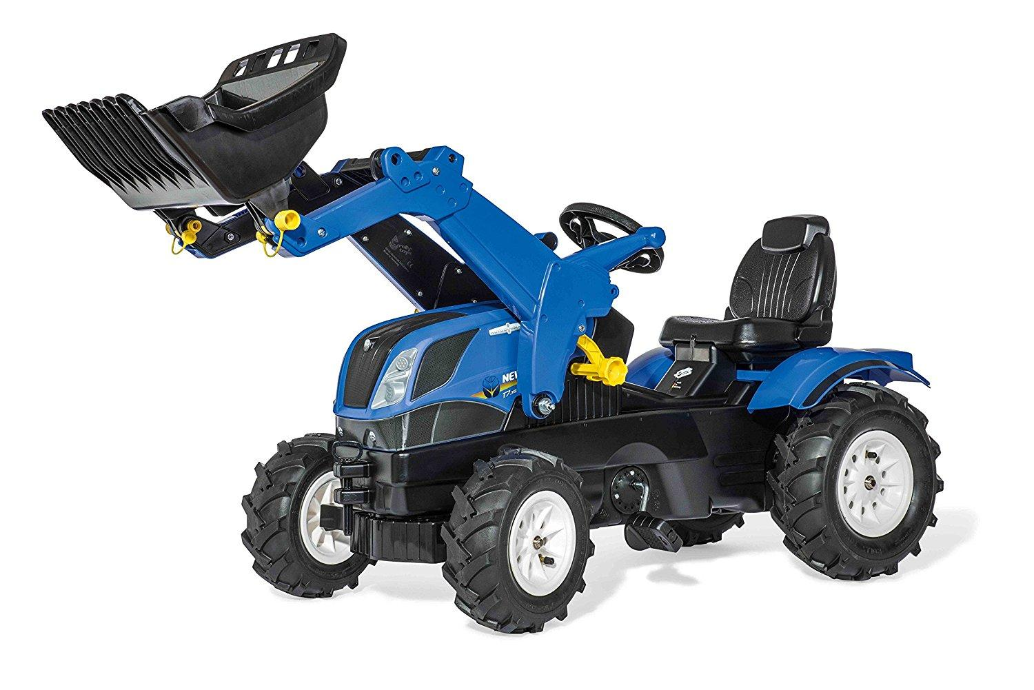 ROLLY TOYS TRATTORE A PEDALI FARMTRAC NEW HOLLAND CON BENNA COD. 611270