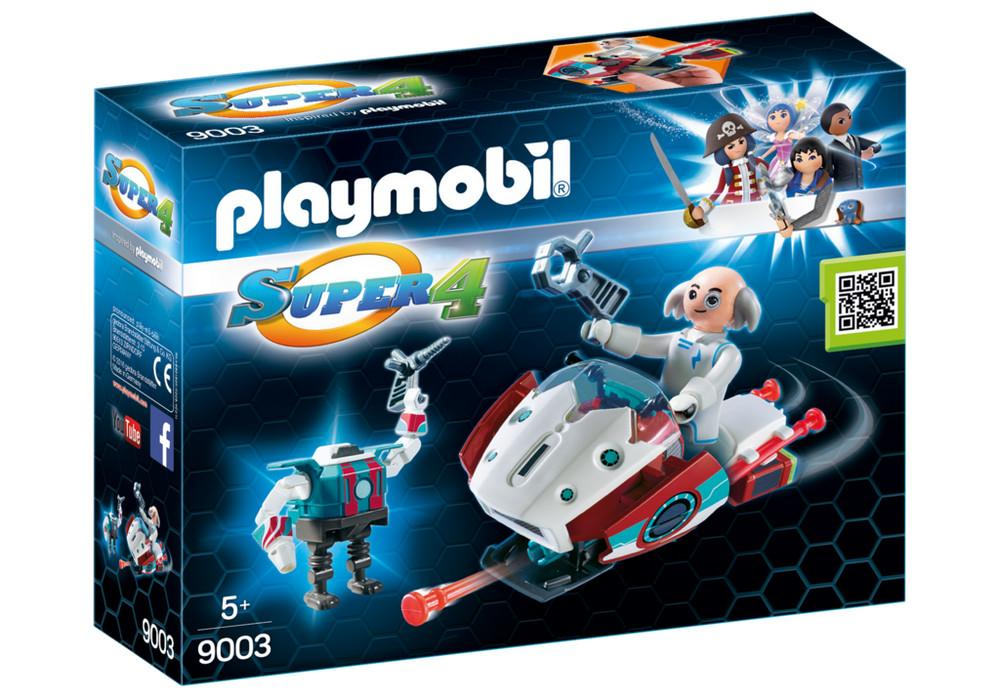 PLAYMOBIL SKYJET CON DOTTOR X E ROBOT 9003