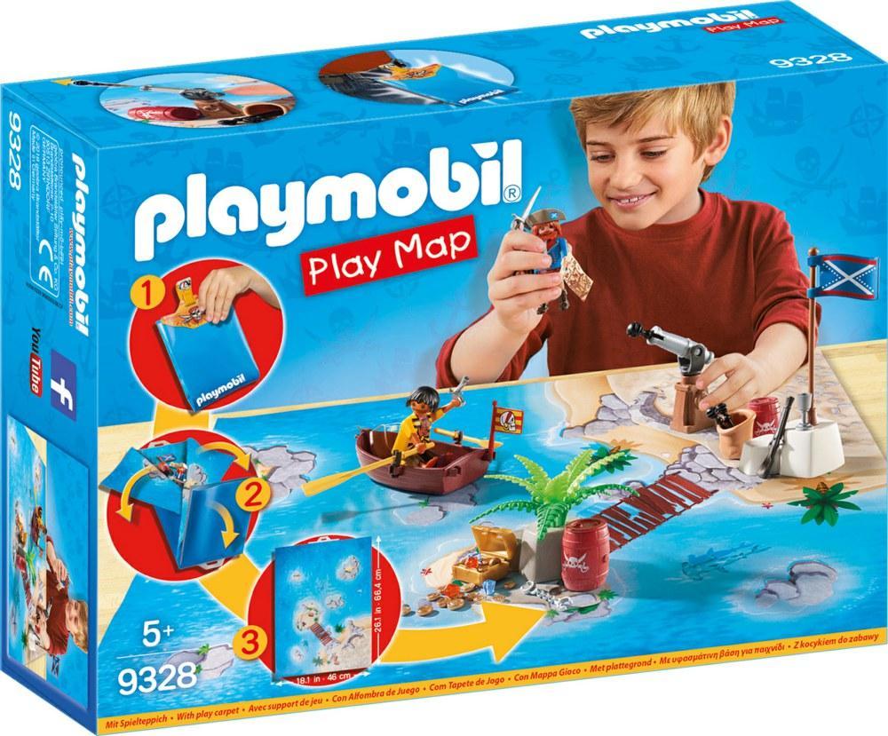 PLAYMOBIL PLAY MAP - IL TESORO DEI PIRATI 9328<br />