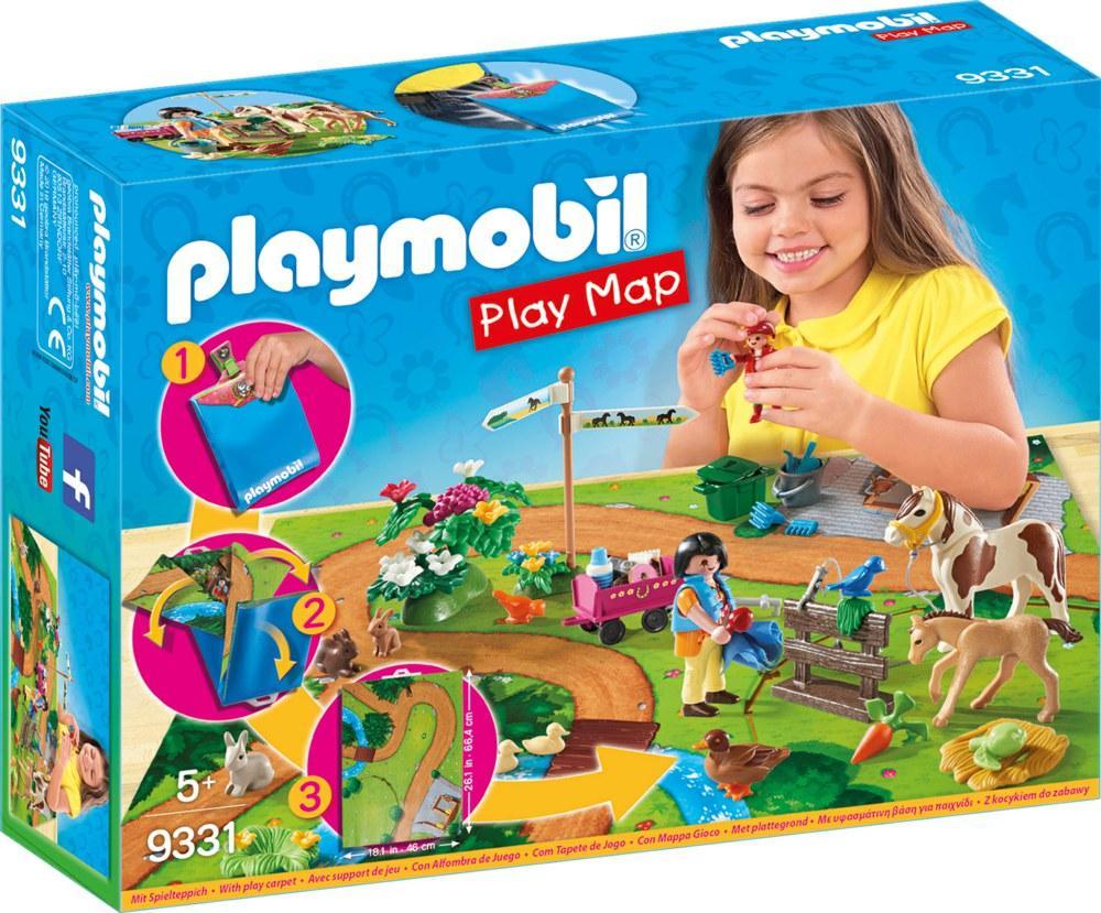 PLAYMOBIL PLAY MAP - PASSEGGIATA A CAVALLO 9331<br />