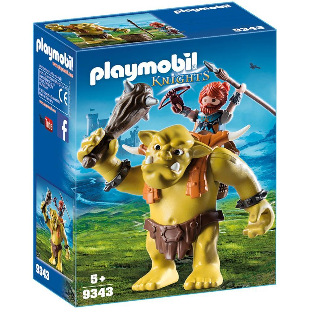 PLAYMOBIL GUERRIERO CON TROLL GIGANTE 9343<br />