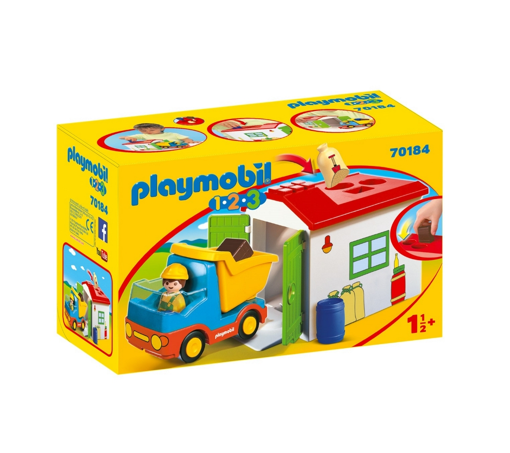 PLAYMOBIL CAMION CON CASSONE 1.2.3 70184<br />