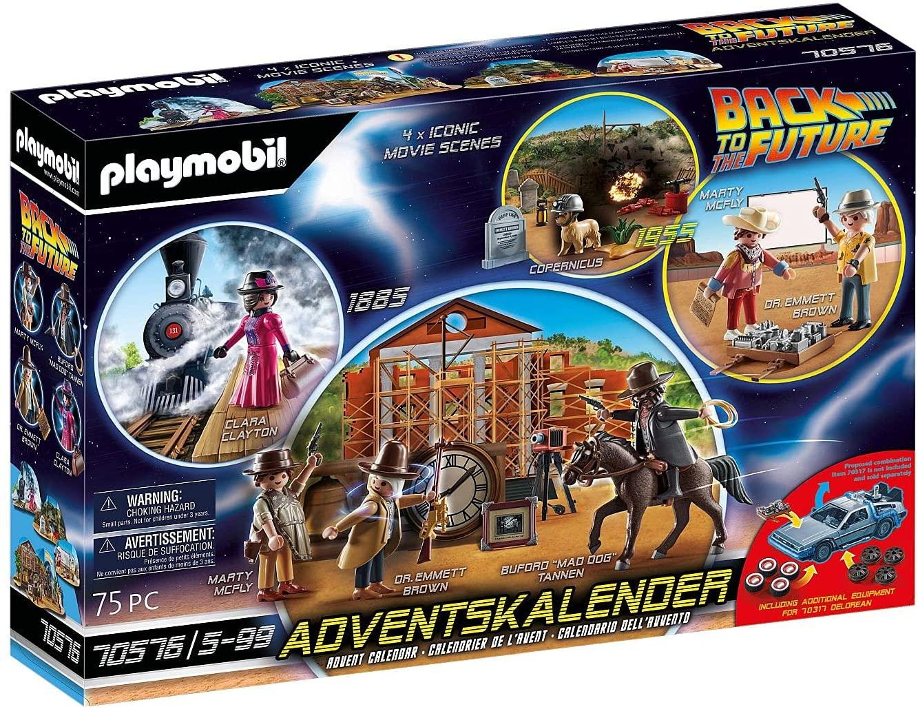 """PLAYMOBIL CALENDARIO DELL'AVVENTO """"BACK TO THE FUTURE PARTE III """" 70576"""