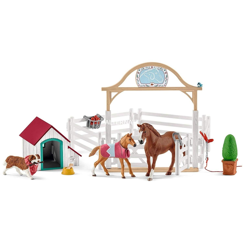 SCHLEICH HORSE CLUB PER OSPITARE CAVALLI DI HANNAH CON CAGNOLINA 42458
