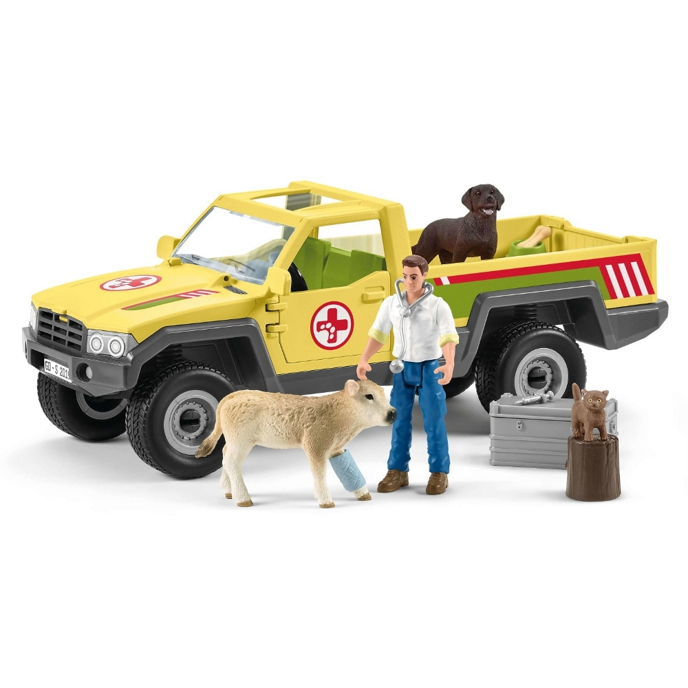 SCHLEICH  PICK UP DEL VETERINARIO 42503