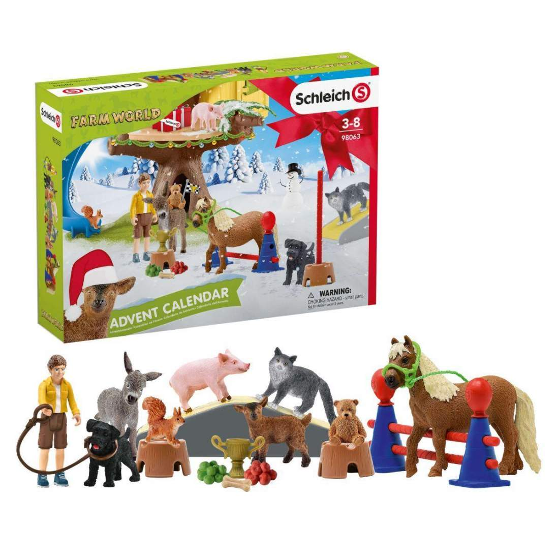 SCHLEICH CALENDARIO DELL'AVVENTO FARM WORLD 2020 98063