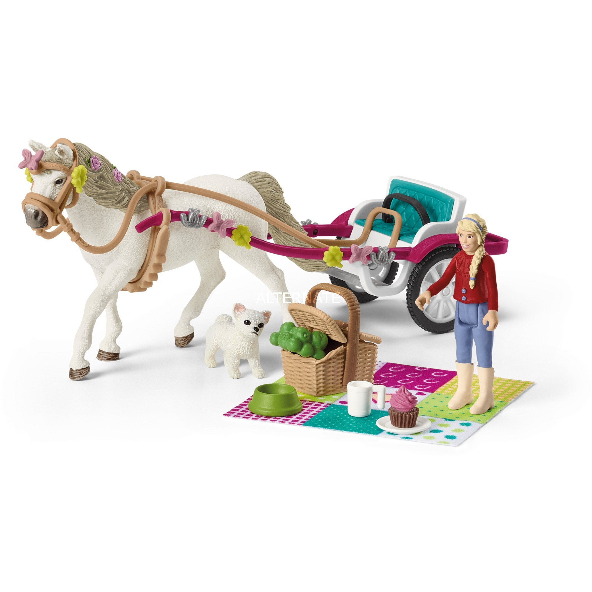 SCHLEICH HORSE CLUB CARROZZA CON CAVALLO 42467