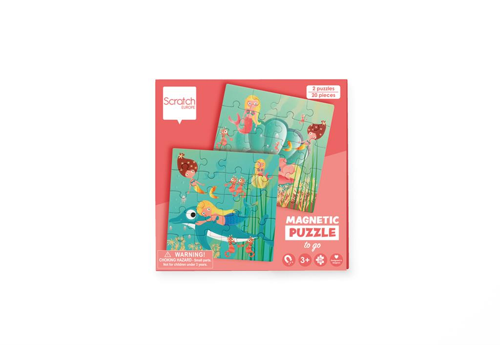 SCRATCH PUZZLES MAGNETIC PUZZLE BOOK TO GO - MERMAIDS SCRATCH PUZZLES