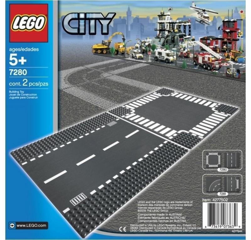 LEGO CITY SUPPLEMENTARY RETTILINEO E INCROCIO 7280