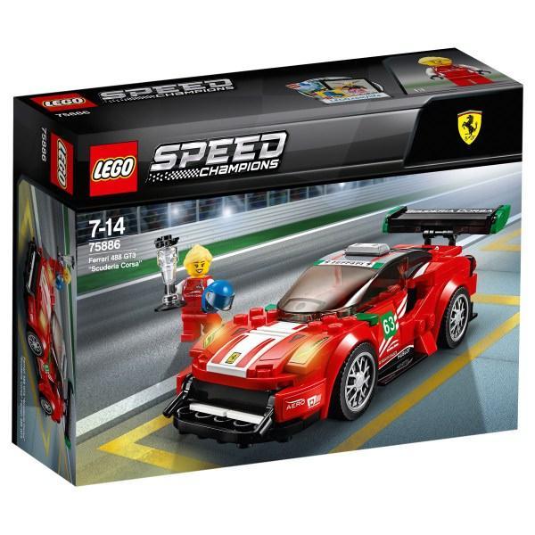 LEGO SPEED CHAMPIONS FERRARI 488 GT3 #SCUDERIA CORSA# 75886<br />