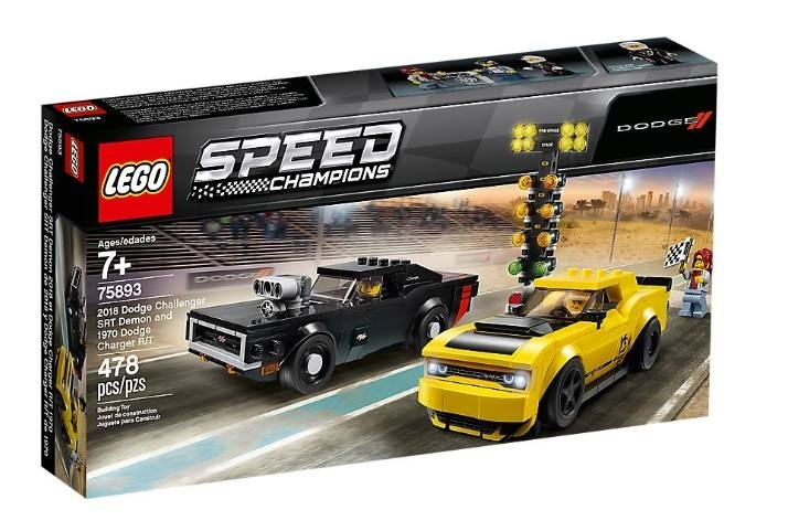LEGO SPEED CHAMPIONS 2018 DODGE CHALLENGER SRT DEMON E 1970 DODGE CHARGER R/T
