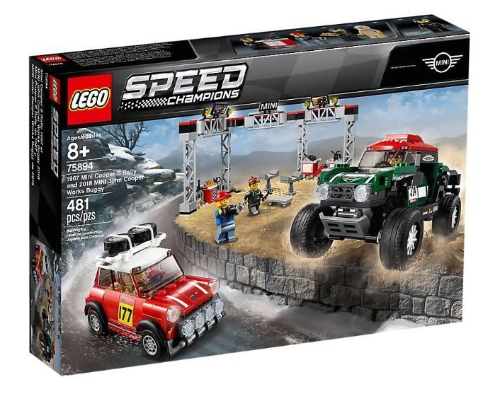 LEGO SPEED CHAMPIONS 1967 MINI COPPER S RALLY E 2018 MINI JOHN COOPER WORKS BUGGY 75894