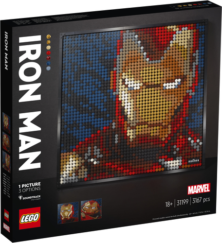 LEGO ART IRON MAN - MARVEL STUDIOS 31199