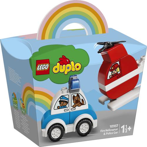 LEGO DUPLO MY FIRST ELICOTTERO ANTINCENDIO E AUTO DELLA POLIZIA 10957