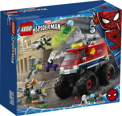 LEGO MARVEL SUPER HEROES MONSTER TRUCK DI SPIDER-MAN VS. MYSTERIO 76174