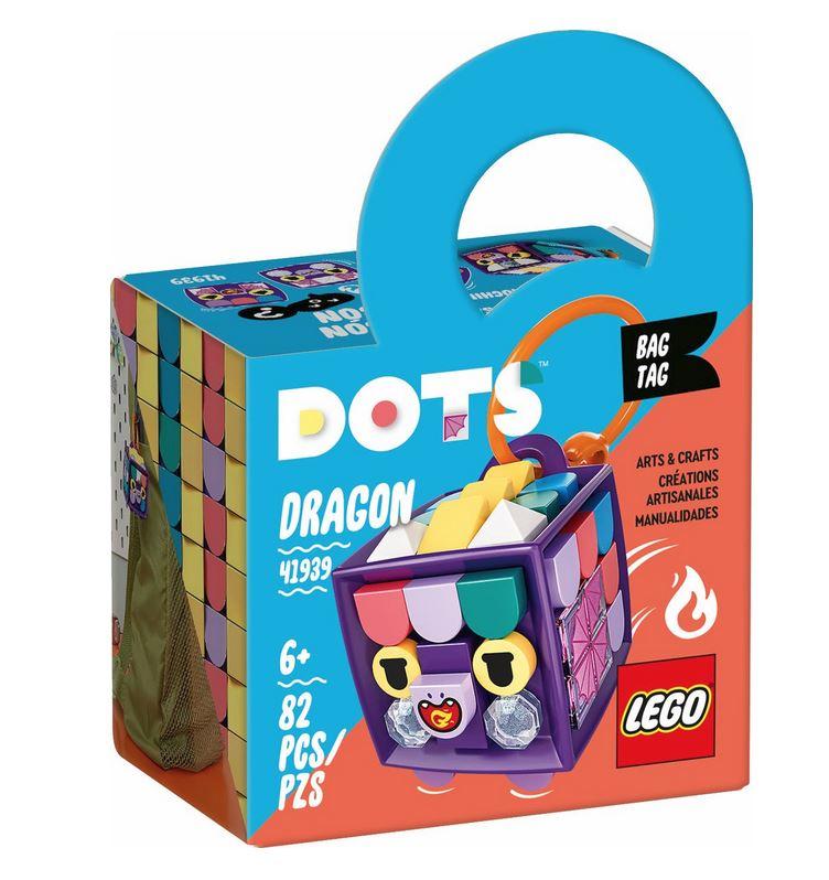 LEGO DOTS BAG TAG DRAGONE 41939