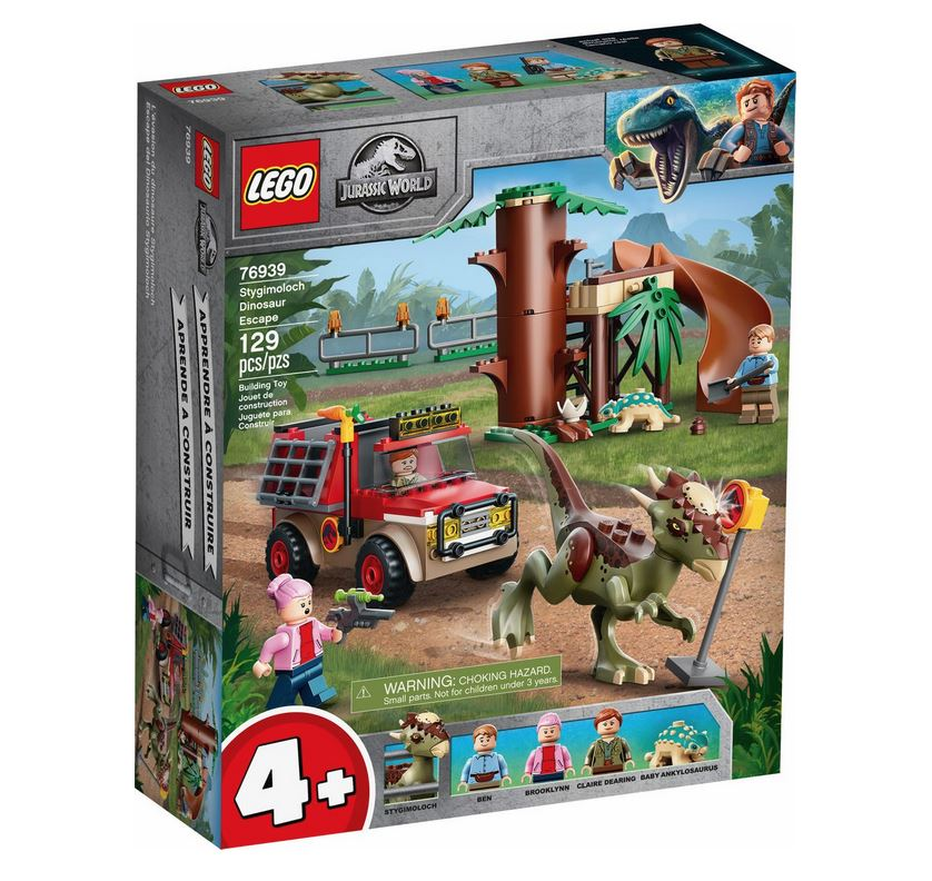 LEGO JURASSIC WORLD LA FUGA DEL DINOSAURO STYGIMOLOCH 76939