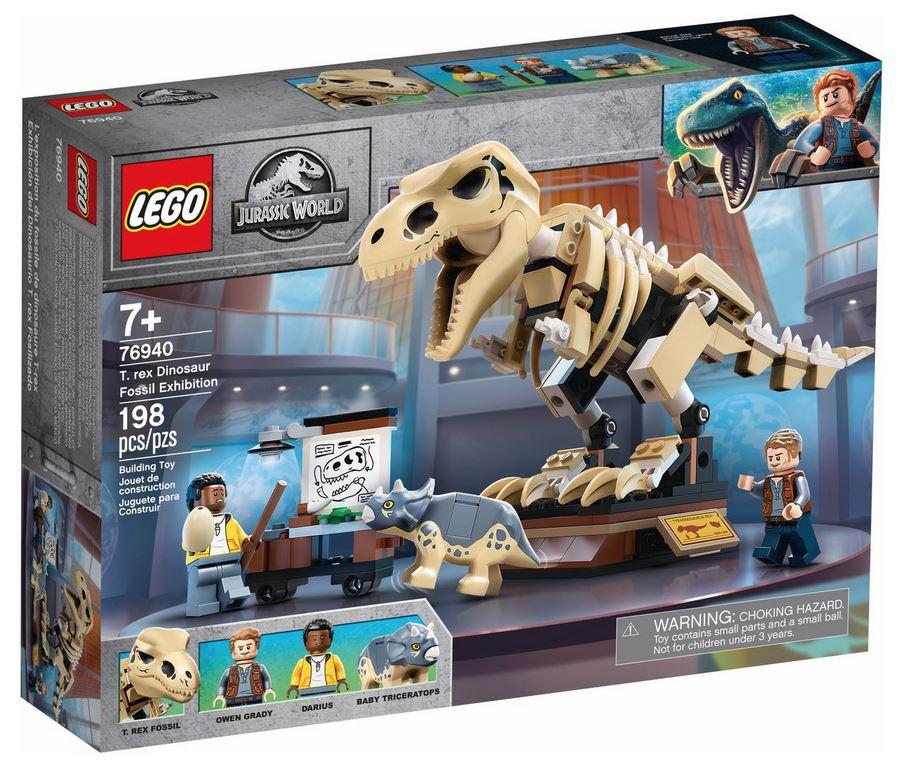 LEGO JURASSIC WORLD LA MOSTRA DEL FOSSILE DI DINOSAURO T.REX 76940