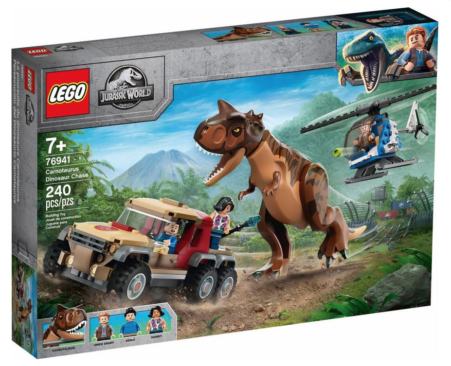 LEGO JURASSIC WORLD L'INSEGUIMENTO DEL DINOSAURO CARNOTAURUS 76941