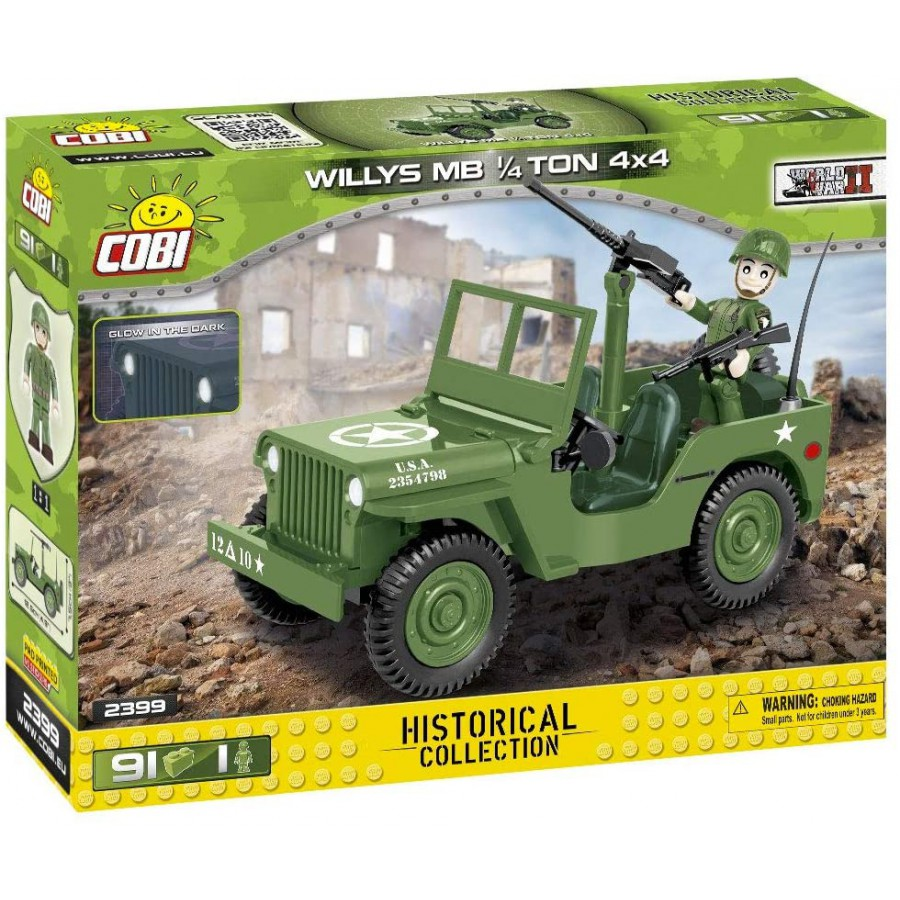 COBI JEEP WILLYS MB 1/4 TON 4X4 WWII 2399