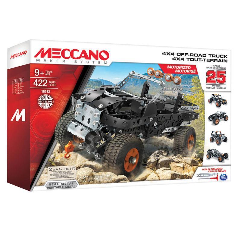 MECCANO MAKER SYSTEM 25 MODELLI 4X4 OFF-ROAD TRUCK cod. 16212/6028599