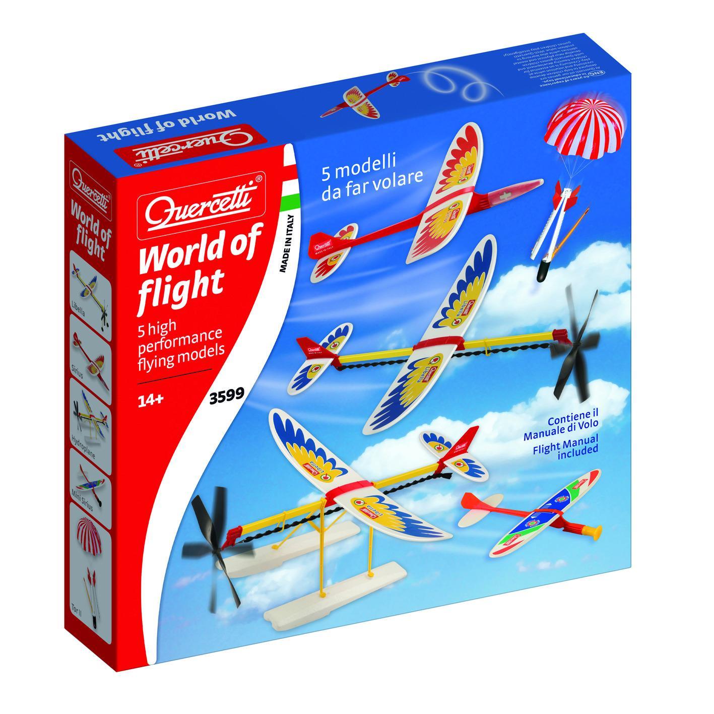QUERCETTI SET DI AEREI DA LANCIO, A PROPULSIONE E NON SOLO: WORLD OF FLIGHT 3599