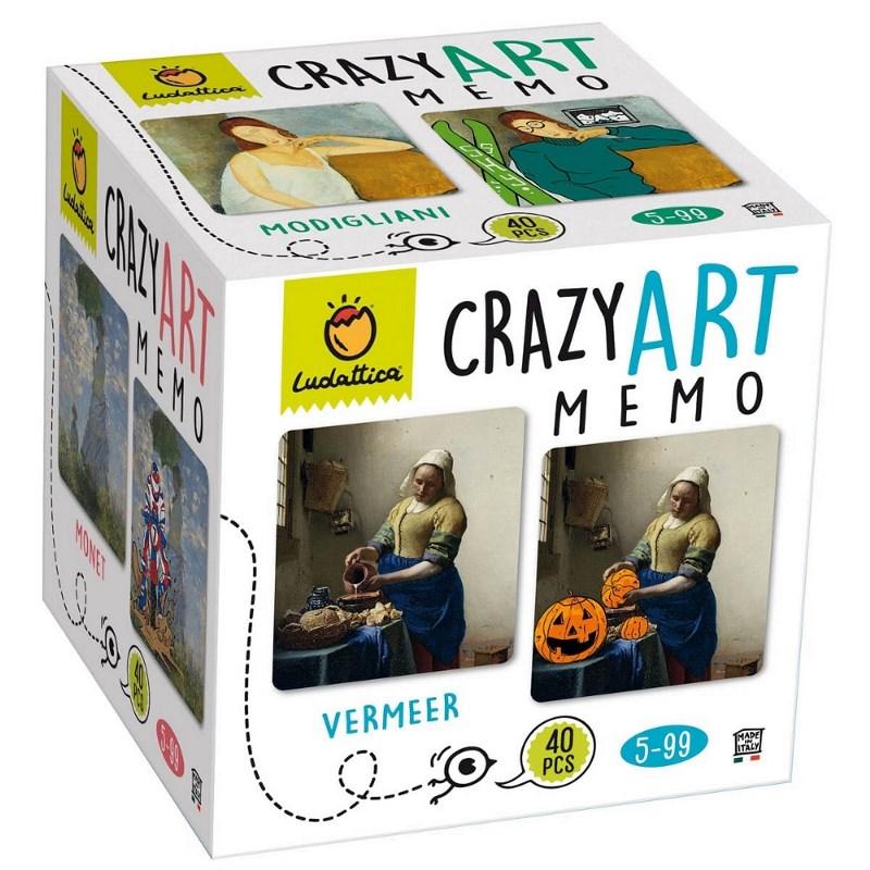 LUDATTICA MEMO GAME - CRAZY ART MEMO 81806