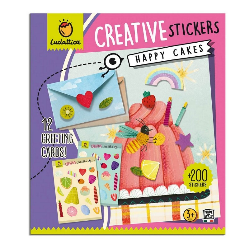 LUDATTICA CRATIVE STICKERS - HAPPY CAKES 81936