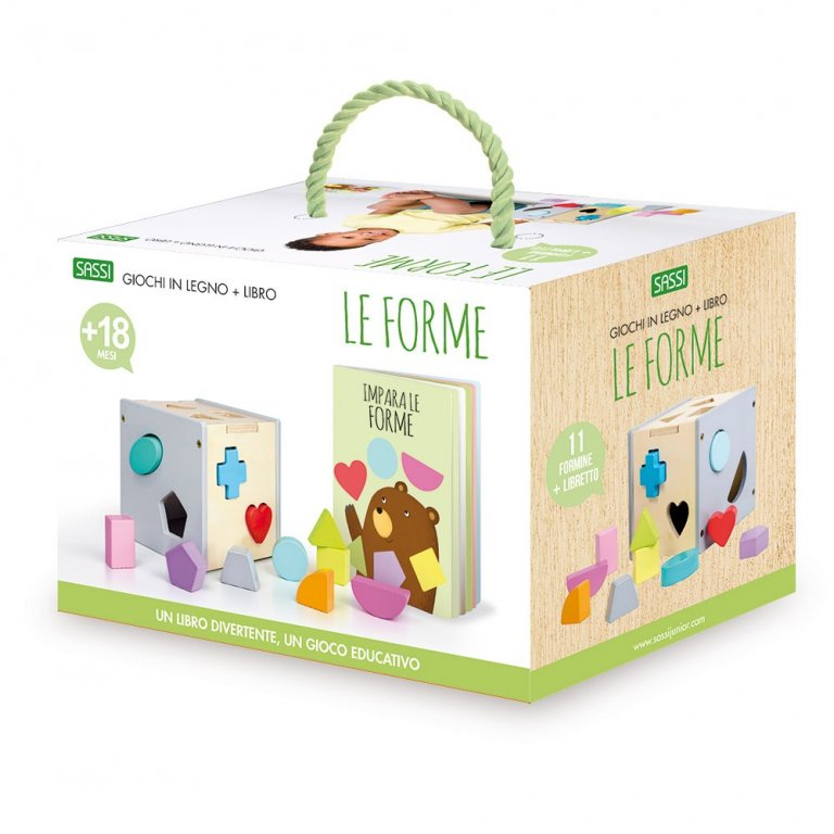 SASSI EDITORE LE FORME - WOODEN TOYS AND BOOK