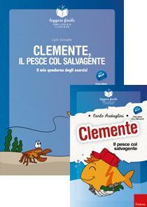 ERICKSON LEGGERE FACILE - CLEMENTE IL PESCE COL SALVAGENTE (STORIA + QUADERNO)
