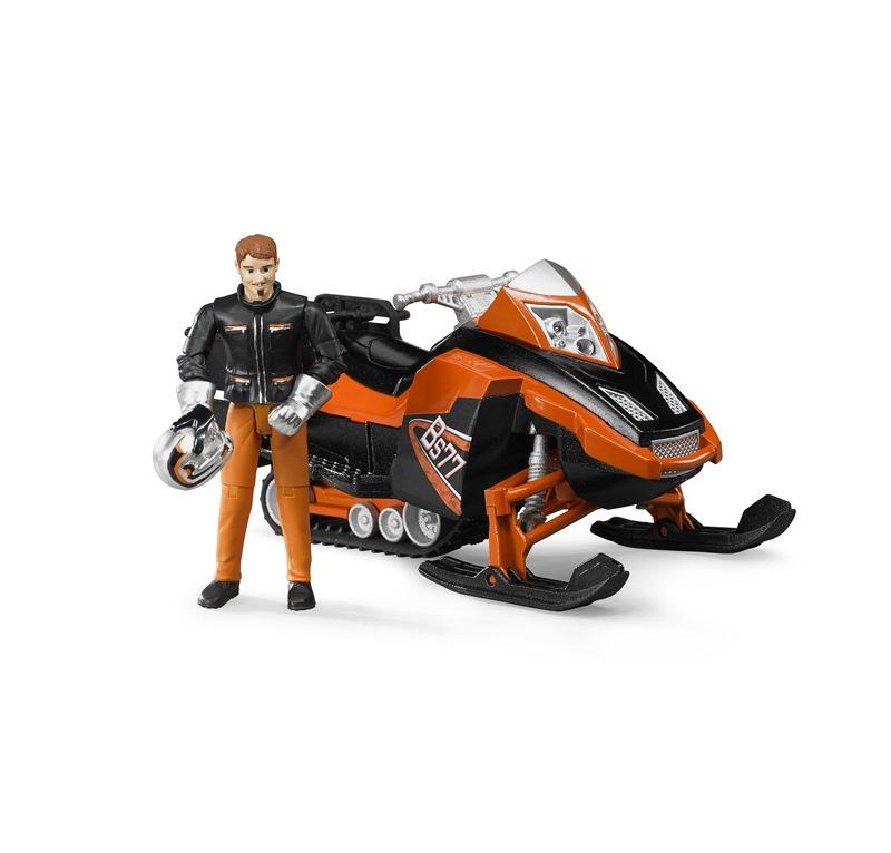 BRUDER MOTOSLITTA CON PERSONAGGIO 63101